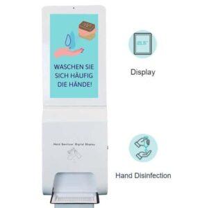 LCD Bildschirm und Desinfektionsmittelspender