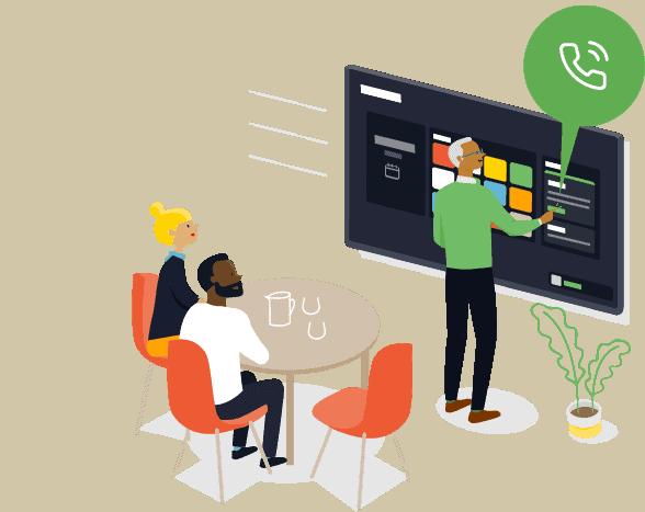 Starten Sie Videokonferenzcalls mit Displaynote