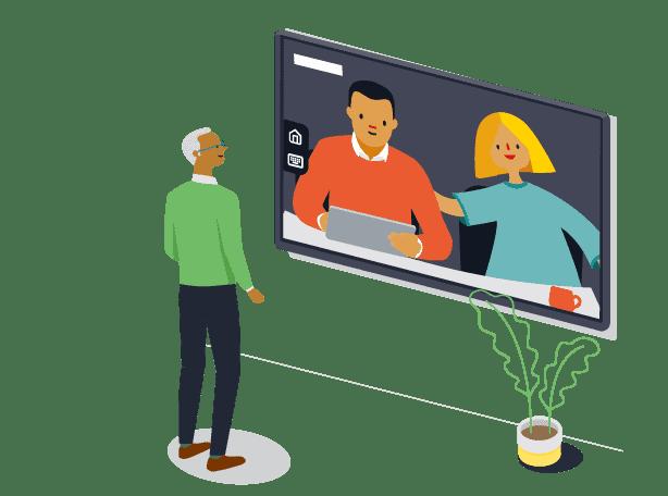 Videokonferenzen mit Displaynote starten