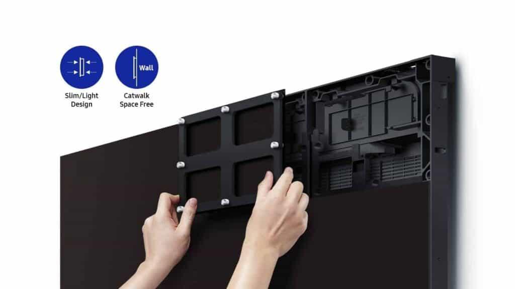 Samsung LED mit Front und Back Zugang immer einfach und gut zu warten
