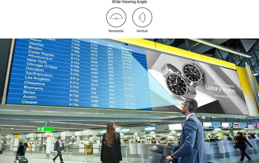 Flughafen Info LED Wall