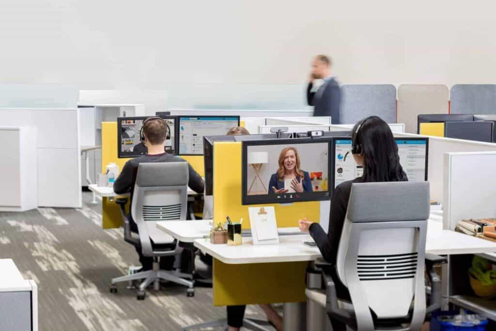 Videokonferenzen an Ihrem Arbeitsplatz