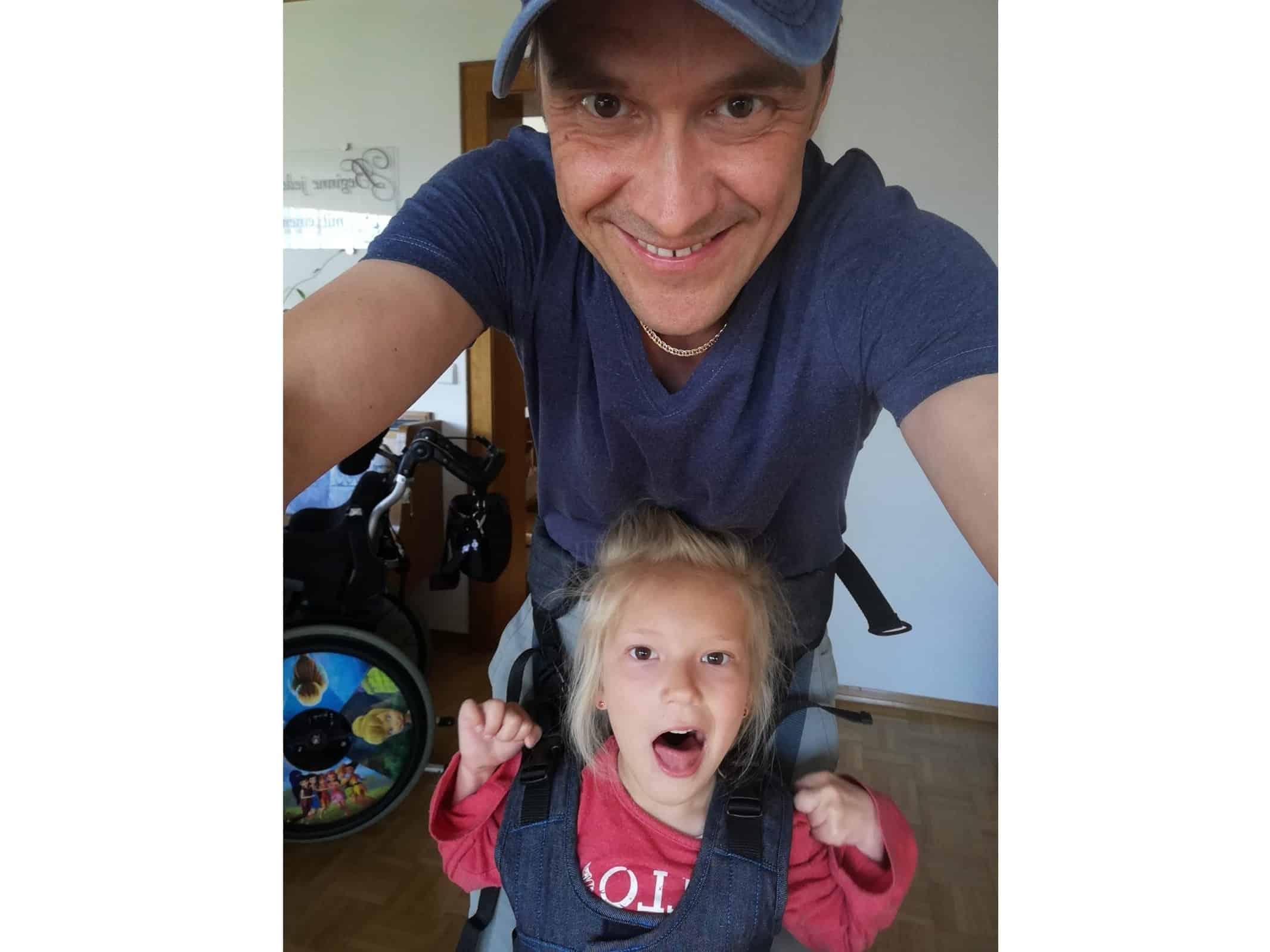Sarina und Papa