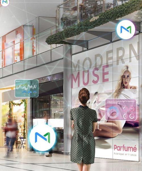 Videowall in Shoppingmall